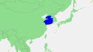 黃海位置圖