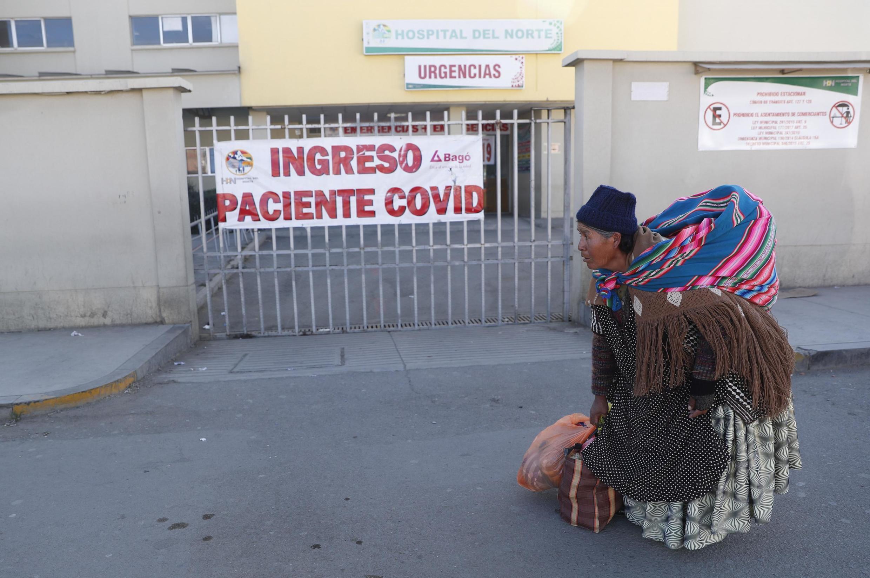 À El Alto, l'hôpital Del Norte qui traite exclusivement les malades du Covid-19, ne peut plus accueillir de nouveaux patients. Le 3 juillet 2020.