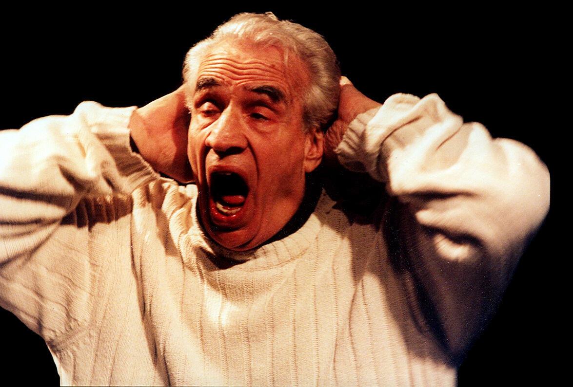 Eduardo Pavlovsky en 'La muerte de Marguerite Duras', dirección de Daniel Veronese.
