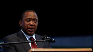 Le président kényan Uhuru Kenyatta ici le 30 octobre 2017, a convoqué un Conseil de sécurité en session extraordinaire après les affrontements de lundi 2 mars.