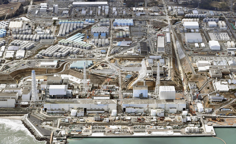 Vue aérienne de la centrale de Fukushima, le 11 mars 2015.