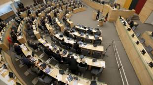 Une vue du parlement lituanien, décembre 2016.