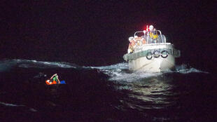 Les garde-côtes japonais ont sauvés la vie d'un Philipin le 2 septembre 2020 après le naufrage de son cargo.