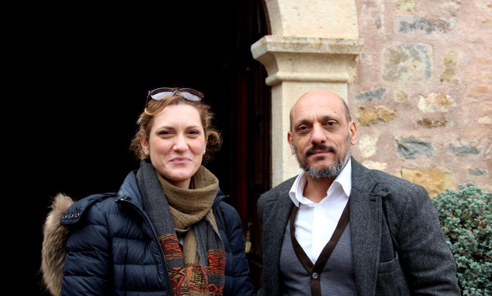 Alessandra Pagliaro (g.), chargée de communication à l'Abbazia Santa Anastasia et Giuseppe Campisi, ingénieur agronome du domaine: «Notre ambition est de produire 500 000 bouteilles en 2020».