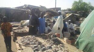 Kasuwar Kifi a Tashar Baga cikin Maiduguri jihar Borno