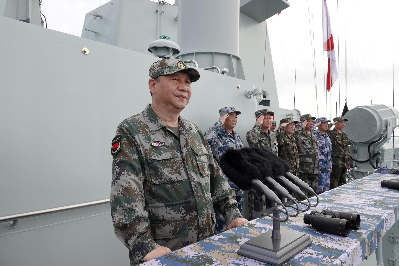 Chủ tịch Trung Quốc Tập Cận Bình (Xi Jinping) phát biểu trong cuộc tập trận hải quân ở Biển Đông, ngày 12/04/2018