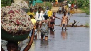 Inondations au Bénin, village de Atikpeta, octobre 2010