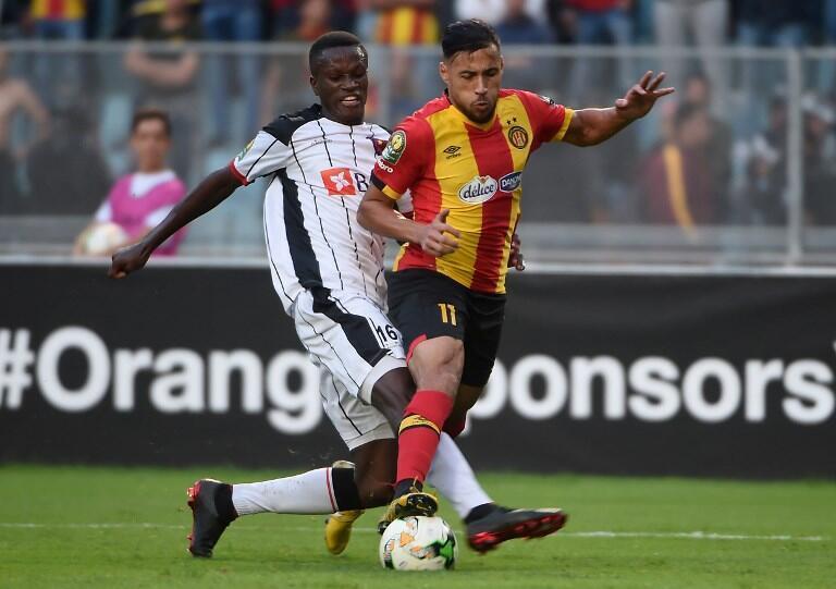 Youssef Belaili (d) a inscrit un penalty face aux Angolais, le 23 octobre 2018.