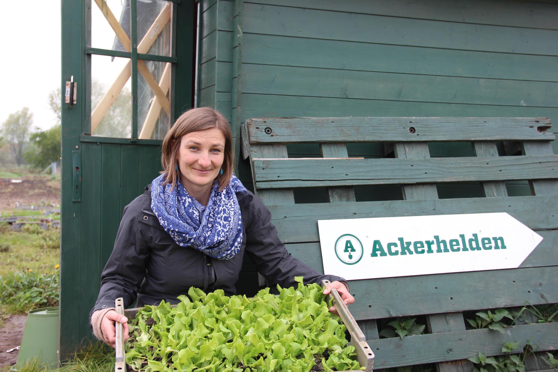 Susanne Seitter, responsable locale de Ackerhelden: «On sent une demande monter de la part d'urbains qui souhaitent maîtriser la qualité de leur nourriture».