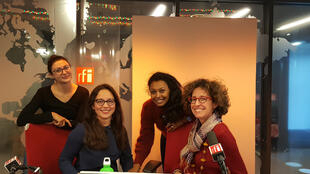 De gauche à droite: Elena Gabriellian, Paola Martinez Infante, Samira Ibrahim et Emmanuelle Bastide.