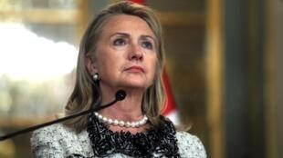 A secretária americana de Estado, Hillary Clinton, concedeu entrevista nesta segunda-feira em Lima, no Peru.