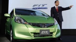 O carro Fit híbrido da Honda