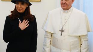 Đức Giáo Hoàng Phanxicô tiếp nữ tổng thống Achentina Cristina de Kirchner tại Vatican, 18/03/2013
