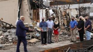 Donald Trump ya ziyarci Kenosha