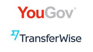 Les logos de Yougov et Transferwise.