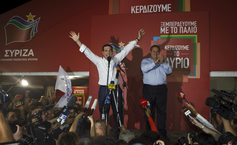 Syriza, le parti de la gauche radicale d'Alexis Tsipras a remporté 35,47% des suffrages dimanche aux élections législatives anticipées en Grèce.