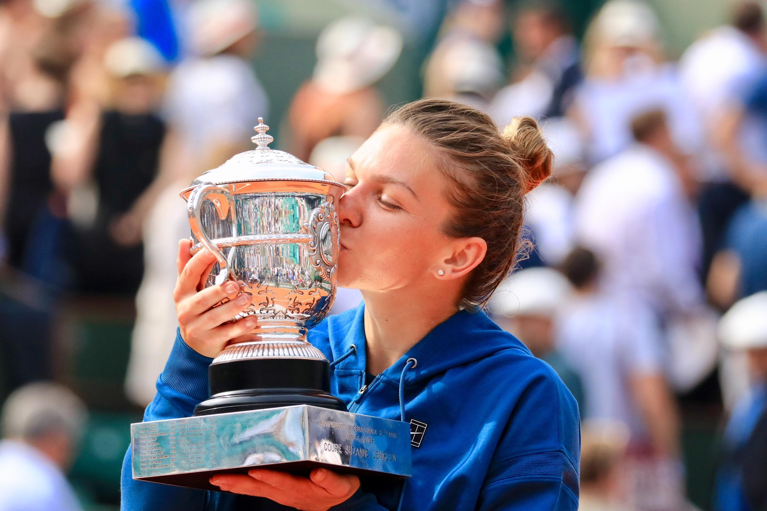 Simona Halep won her first Grand Slam trophy at the French Open in 2018.