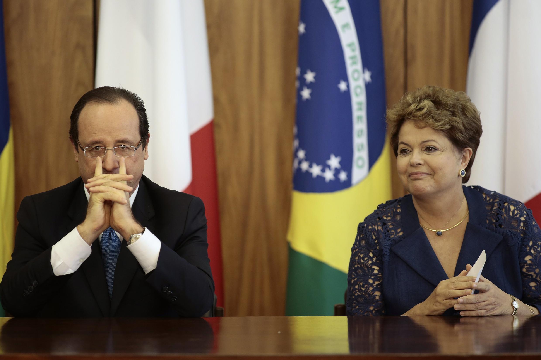 François Hollande with Brazilian President Dilma Roussef last week
