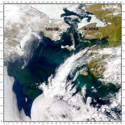 Image d'archive RFI : le détroit de Béring entre la Sibérie et l'Alaska.