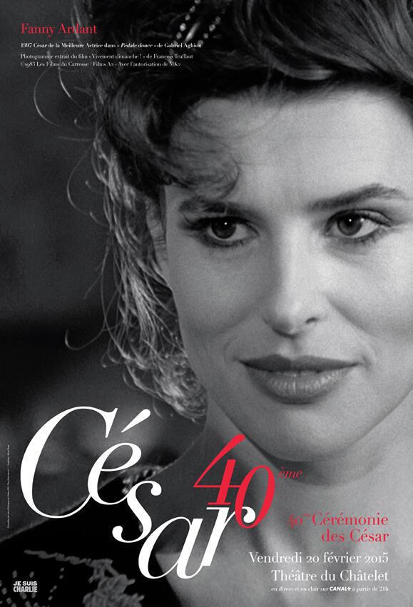 Atriz francesa Fanny Ardant estampa o cartaz oficial da premiação.