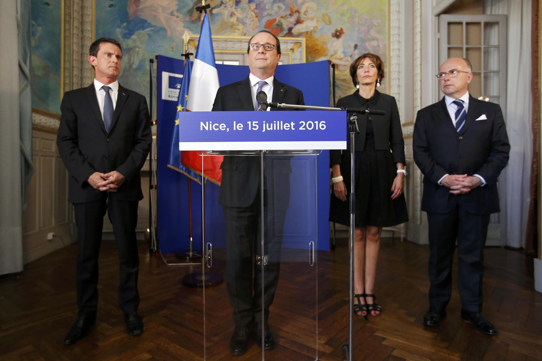 O presidente francês, François Hollande, durante coletiva nesta sexta-feira em Nice
