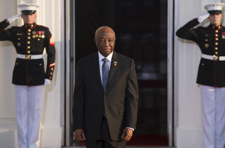 Le vice-président du Liberia Joseph Boakai, en visite à Washington, le 5 août 2014.