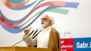 伊朗司法部副部長伊傑依宣布王夕越被判處十年徒刑,2017年7月16日。