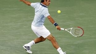 O tenista suíço Roger Federer durante partida contra o espanhol Rafael Nadal em Cincinnati, nos Estados Unidos, em foto de 17 de agosto de 2013.