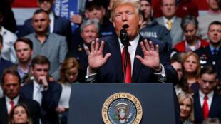 Президент Трамп, выступая в среду, 15 марта, в Нэшвилле, осудил «ошибочное» решение суда.