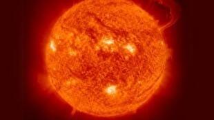 Eruption solaire du 7 juin 2011.