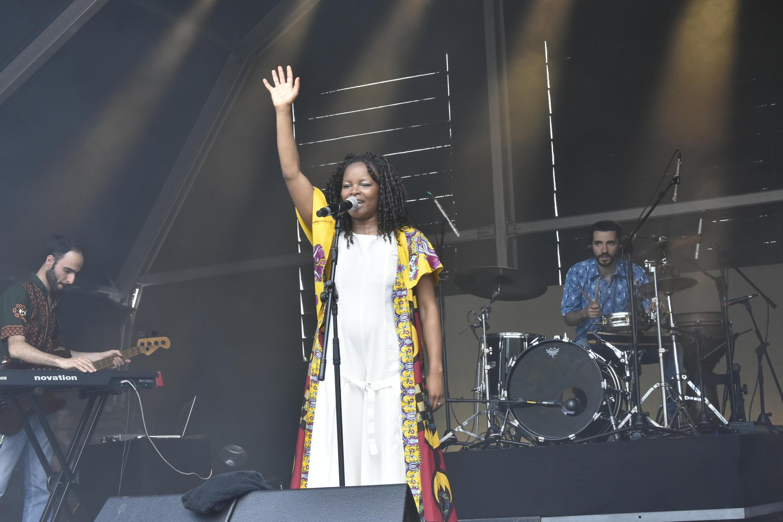 Selma Uamusse durante o seu concerto no festival Rock in Rio 2018.Lisboa 30 de Junho de 2018