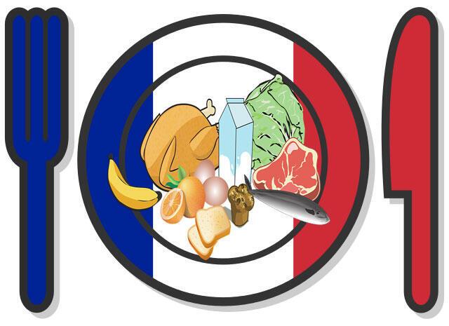 Estudo mostra que os adultos franceses consomem em média 2,9 quilos de alimentos todos os dias.