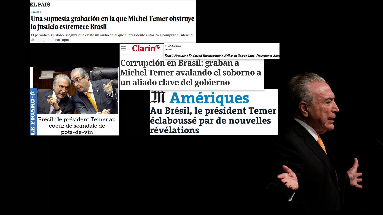 Imprensa europeia repercute escândalo de suborno envolvendo presidente Michel Temer