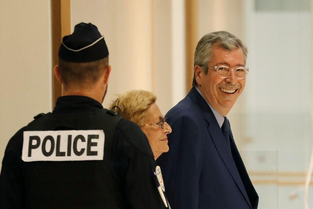 Mr and Mrs Balkany earlier this year.
