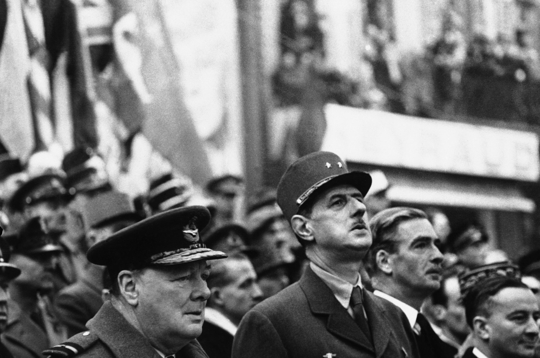 Шарль де Голль и Уинстон Черчилль в Лондоне. Фото 6 апреля 1960 г.
