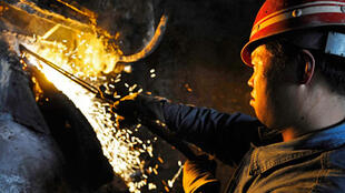 Dans une aciérie chinoise, le 24 avril 2009.