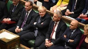 Thủ tướng Anh Boris Johnson (G) tại Nghị Viện trong phiên họp bất thường, Luân Đôn, ngày 19/10/2019.