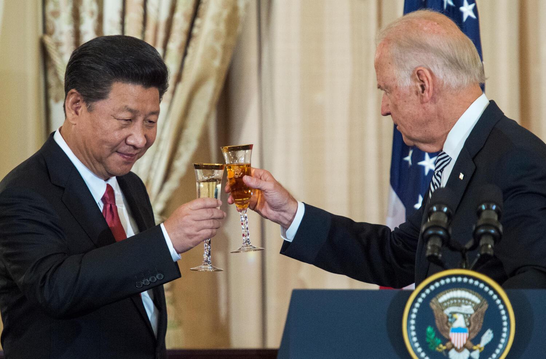 Shugaban China, Xi Jiping da Joe Biden a  shekarar 2015 a birnin Washington.