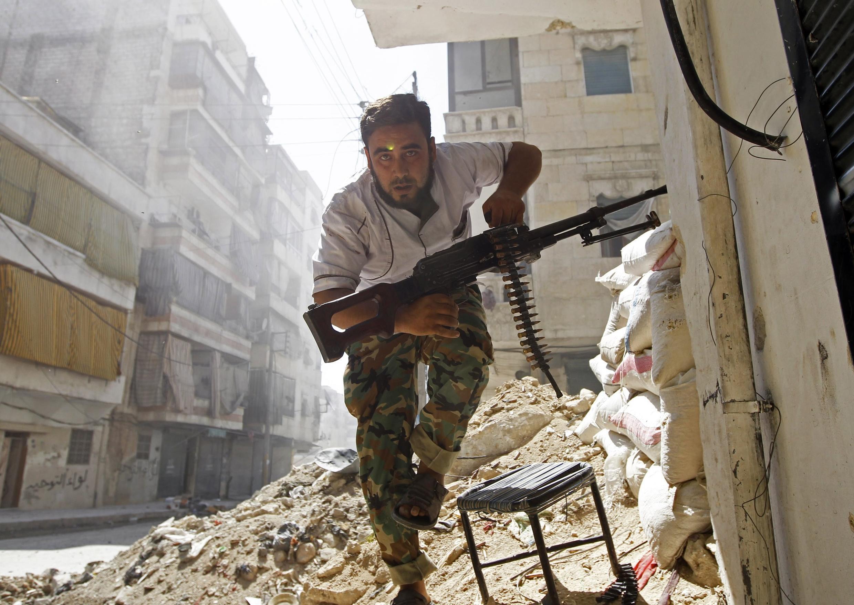 Mpiganaji wa kundi la waasi wa Syria,.