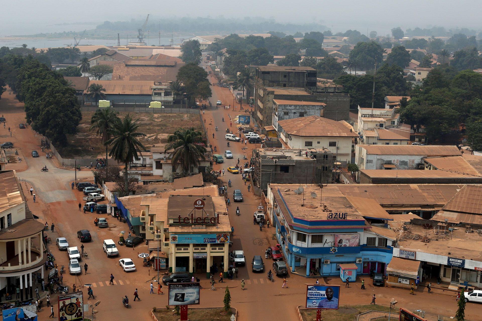 Mji mkuu wa Jamhuri ya Afrika ya Kati, Bangui.