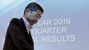 Hiroto SAIKAWA - le DG de Nissan lors d'une conférence à Yokohama le 25 juillet 2019.