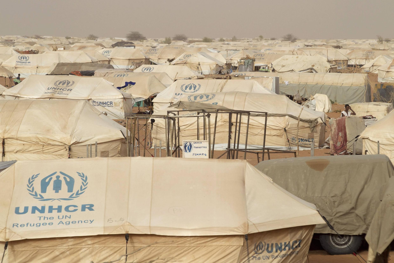 Campamento de la ONU para los refugiados de Mali en Mauritania