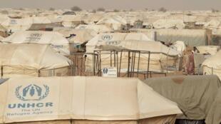 Camps de réfugiés maliens en Mauritanie.