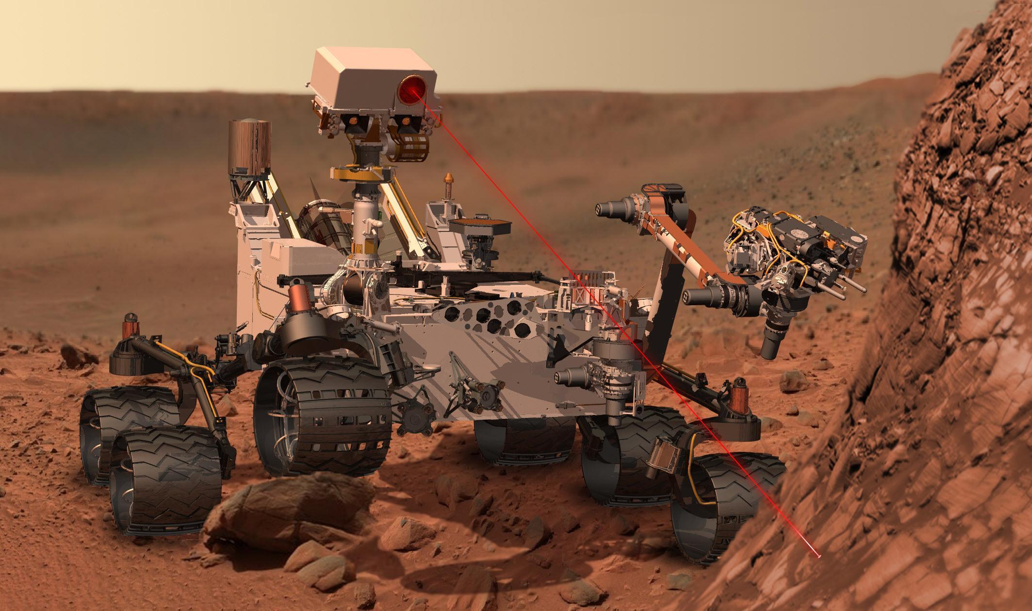 O robô Curiosity explora o planeta Marte para a Nasa desde agosto de 2012.