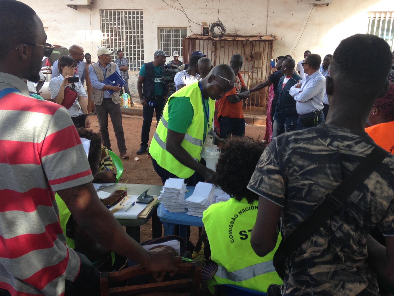 Processo de contagem dos votos das legislativas no Domingo 10 de Março 2019 na Guiné-Bissau.