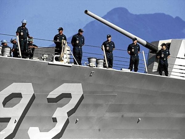 Chiến hạm USS Chung Hoon tham gia cuộc tập trận Hoa Kỳ - Philippines gần Trường sa.