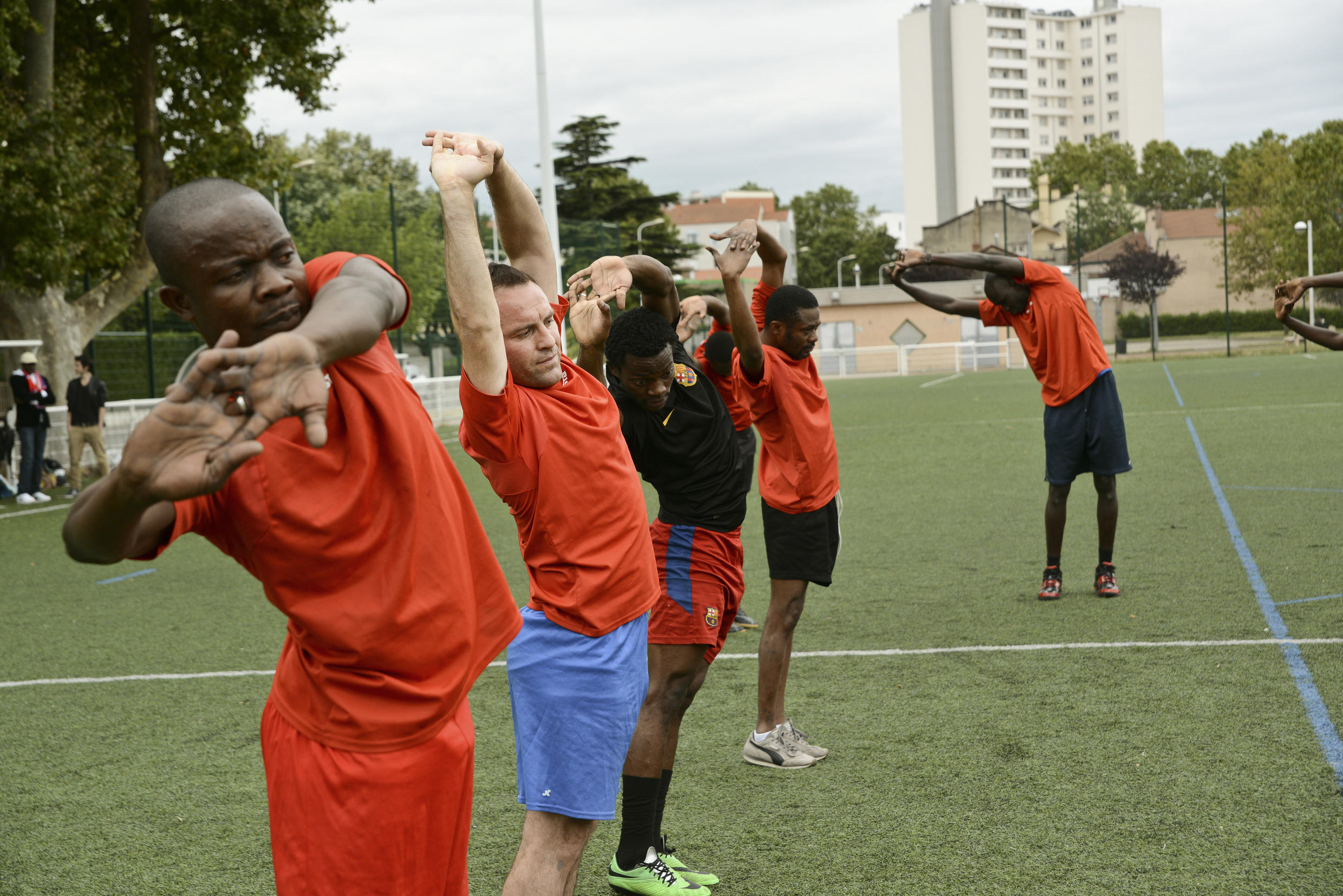 The team trains every Friday in the Mermoz district in Lyon.