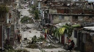 Damage caused by Hurricane Sandy in Cuba at the weekend