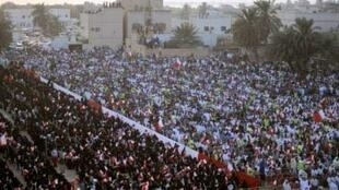 A protest held by Bahrain's main opposition party, al-Wafaq, at Budaiya, west of Manama on 30 September