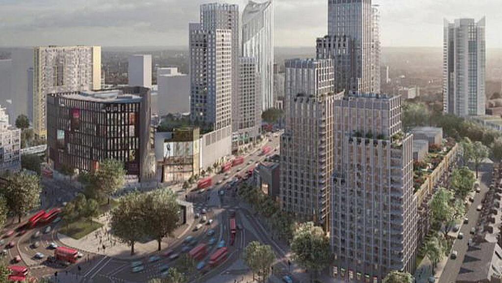 La maquette du futur quartier rénové d'Elephant and Castle dans le sud de Londres.